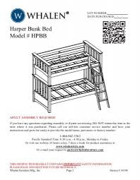 Whalen Bunk Beds Bunk Bed Model Hpbb Whalen Style