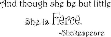 shakespeare quote though she be but vinyl wall