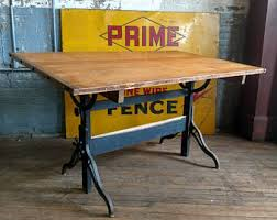 Hamilton Electric Drafting Table Hamilton Iron On Etsy