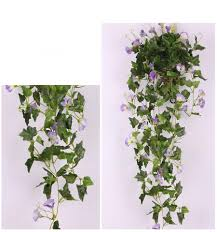 2017 artificial morning glory vine flowers real touch home party