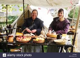 17th century cuisine historical re enactment cooking 17th century food preparation stock