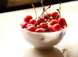 free picture cherry fruit bowl food sweet fruit dessert