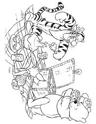 winnie pooh bear friends picnic coloring u0026