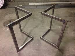metal table base kit modern coffee tables metal dining table base