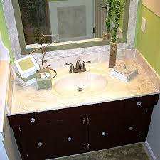 Frame Existing Bathroom Mirror Bathroom Mirror Makeover Decorative Paint Frame Without