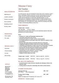 art teacher resume template 15 best art teacher resume templates
