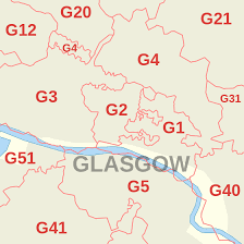 g map g postcode area