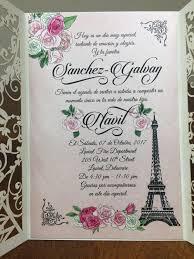eiffel tower wedding invitations eiffel tower laser cut wedding invitations quinceanera