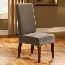 Luxury Dining Chair Covers with Luxury Suede Mid Pleat Relaxed Fit Dining Chair Slipcover With
