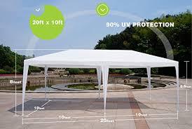 Patio Tent Gazebo Uscanopy 10 X30 Wedding Outdoor Patio Tent Canopy Heavy