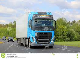 volvo truck commercial sky blue volvo truck in traffic editorial stock photo image