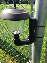 solar lights for chain link fence getting a no more grass trim for landscape lights with a chain