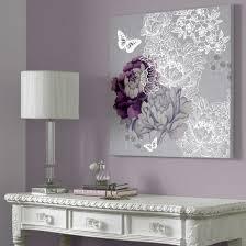 purple and gray wall art wall decoration ideas