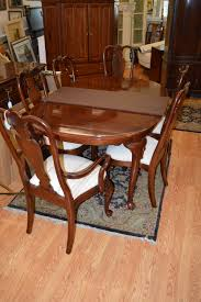 ethan allen british classics dining table amp 8 chairs round