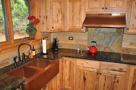 rustic home kitchen design displaying dark brown refinishing wood