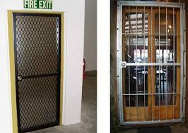 Steel Exterior Security Doors Gorgeous Commercial Steel Security Doors With Prehung Commercial