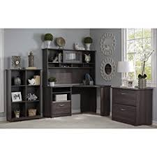 Office Desk With Hutch L Shaped Bush Furniture Cabot Corner Desk With Hutch In