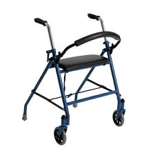senior walkers with seat drive 2 wheeled walker with seat in blue 1239bl the home depot