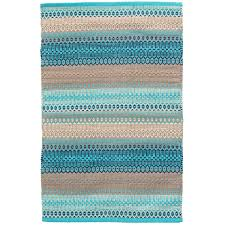 Blue Ombre Rug Gypsy Stripe Turquoise Grey Woven Cotton Rug Dash U0026 Albert