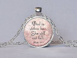 spiritual jewelry christian jewelry psalm 46 5 scripture pendant god is within