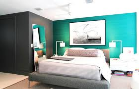 elegant modern bedroom design ideas featuring turquoise blue and