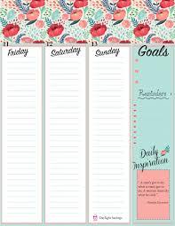 printable january 2016 weekly planner the rustic redhead weekly planner sheets free printables