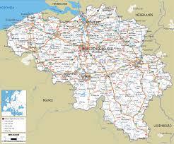 belgium in the map belgium map travelsfinders