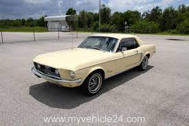 Ford Muscle Cars - 1968 ford mustang coupe 289 046