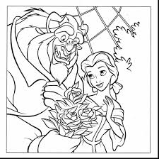 magnificent beauty and the beast coloring pages dokardokarz net