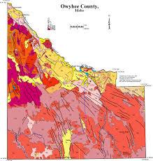 Idaho On Map Geologic Map Of Owyhee County