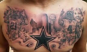 megafan covers his body in cowboys tattoos