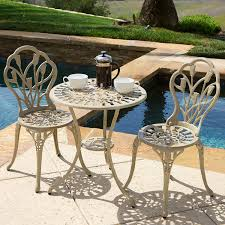 Aluminum Patio Furniture Set - amazon com sonoma sand bistro set outdoor and patio furniture