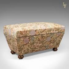 Antique Ottoman Antique Ottoman Upholstered Chest C 1870 Antique