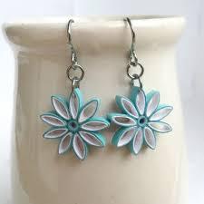 eco friendly earrings aqua ombre nine pointed earrings eco friendly earrings