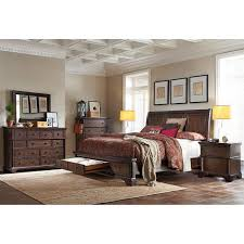 brownstone 6 piece king storage bedroom set