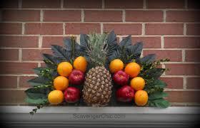 williamsburg inspired the door fruit fan scavenger chic