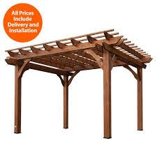 Decks And Pergolas Construction Manual by Backyard Discovery Installed 10 Ft X 12 Ft Cedar Pergola