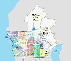 Lake Washington Map by Mcaleer Creek And Lyon Creek Ballinger Creek Basin Plans Project