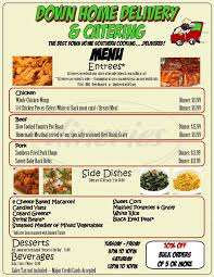 down home delivery u0026 catering menu dorchester dineries