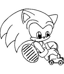 Coloriage Sonic bébé dessin gratuit à imprimer
