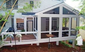 Backyard Porches And Decks by A Small Extension Off This Screened Porch Contains A Captured