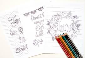 typography coloring sheets the scrap shoppe