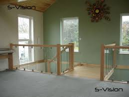 Glass Banister Kits American White Oak Stair Parts Handrail Spindles Balusters Newel Posts
