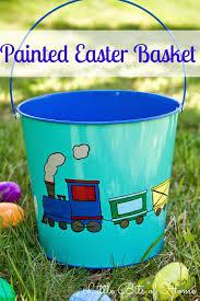 painted easter baskets painted easter basket thumb jpg