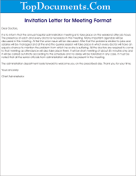 invitation letter for meeting sample u2013 top docx