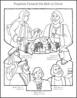 birth of jesus coloring page primary 6 old testament lesson 46 prophets foretold the birth of