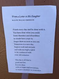from a letter to his daughter poem elf