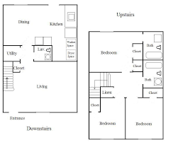 3 Bedroom 2 Bath Floor Plans Capitangeneral Small Town Home Plans