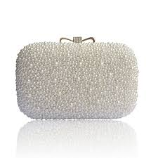 Lydc Ivory Hard Case Beaded Clutch Bridal Bag Clutch And Evening