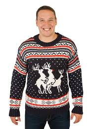 ugly christmas sweater with humping reindeers stuff you should have
